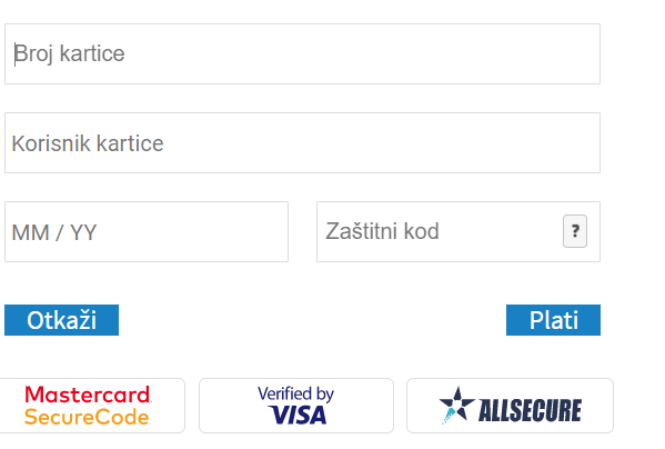 Placanje karticom